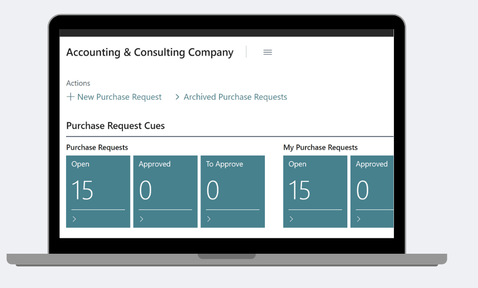 purchase requisition dynamics 365 business central